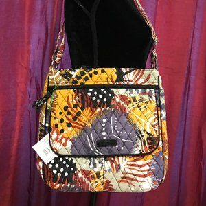 Vera Bradley Double-Zip Mailbag in Painted Feather